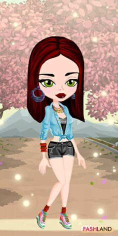 "Fashland welcomes Sakura lovers! ""Blossom"" in Tokyo!  #fashland #fashion #passionforfashion #trees #country #greeneyes #spring #warm #shorts #sneakers #beauty #beautiful #dressup #gamegos #onlinegames #gaming"