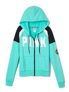 Lightweight Jersey Full-Zip Hoodie - PINK - Victoria's Secret For ...