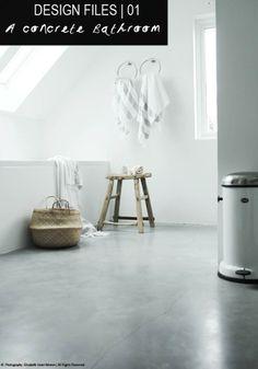 Bathroom With Polished Concrete Floor