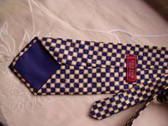 Vintage mens tie polyester necktie Burtons by coolclobber on Etsy