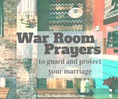 War room prayers for protection over your marriage. Plus download the free prayer cards!