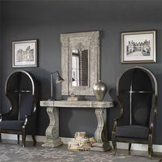 Uttermost Nadira Black Canopy Chair