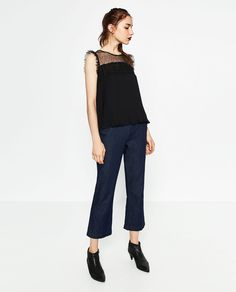 Image 1 of PLEATED LACE TOP from Zara