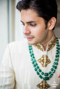 Indian Groom Jewelery | Photo by The Wedding Salad