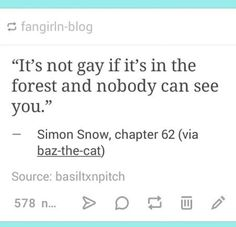 Another of the many reasons why I love Carry On and Rainbow Rowell