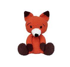 amigurumi - crochet fox - handmade toy - virkad räv - virka - crochet pattern - gift for kids - instacrochet - etsygram - virkad leksak - crochet toy - handgjord - unik