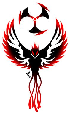 Dark Phoenix Tattoo by ~UncleJi on deviantART - circle = current mask tattoo, but head should be pointed up, more elaborate tail Tribal Phoenix Tattoo, Phoenix Bird Tattoos, Phoenix Tattoo Design, Tribal Tattoos, Phoenix Design, Dark Phoenix, Phoenix Art, Phoenix Wallpaper, Phoenix Drawing