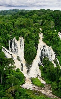 Gabon - Djidji waterfalls, Ivindo National Park travel & #save on tickets with #AirConcierge.com