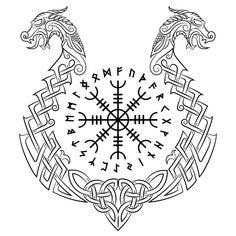 Viking Tattoo Symbol, Norse Tattoo, Viking Tattoo Design, Celtic Tattoos, Helm Of Awe Tattoo, Viking Dragon Tattoo, Armor Tattoo, 3d Tattoos, Tattoo Ink