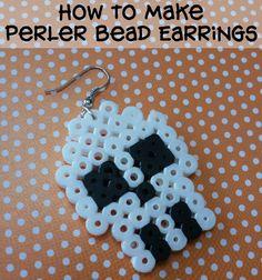 How to Make Perler Bead Earrings Photo Tutorial