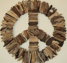 Driftwood Peace Sign. $140.00, via Etsy.