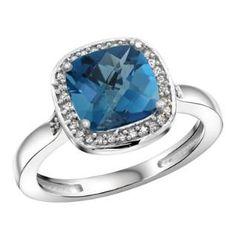 https://ariani-shop.com/sterling-silver-diamond-natural-london-blue-topaz-ring-cushion-cut-8x8mm-1-2-inch-wide-sizes-5-10 Sterling Silver Diamond Natural London Blue Topaz Ring Cushion-cut 8x8mm, 1/2 inch wide, sizes 5-10