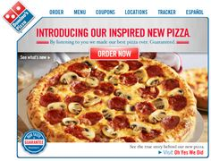 "The Dominos ""Pizza Turnaround campaign"" publicly admitted the shortcomings of the product - and vowed to improve it"