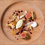 Amazing dishes at The Test Kitchen ; Fig with Fig Leaf Ice Cream. Just been selected in top restaurants of the world