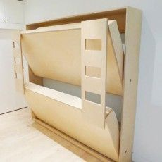 Double Murphy Bunk Bed for Kids! Such a good idea :) more room to play in the room.