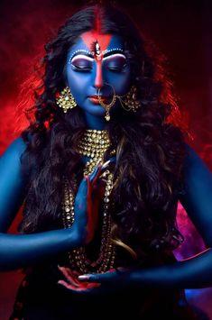 Durga Kali, Kali Mata, Shiva Shakti, Indian Goddess Kali, Durga Goddess, Goddess Art, Mother Kali, Lips Painting, Lord Shiva Statue