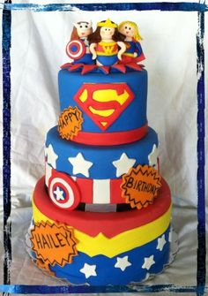 so can i get a cake like this but with only batman, superman, and catwoman. yeahh.