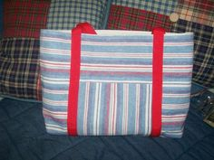 Dollar Store Placemat Tote Bag | AllFreeSewing.com