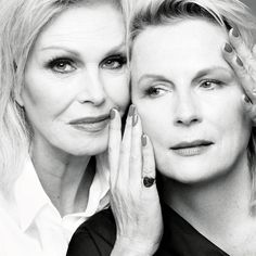 Absolutely Fabulous: Jennifer Saunders And Joanna Lumley Joanna Lumley Young, British Actresses, Actors & Actresses, Absolutely Fabulous Quotes, Patsy And Eddie, Inside The Actors Studio, Jennifer Saunders, Actor Studio, Ab Fab