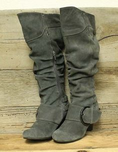 fa117f480c7 NAUGHTY MONKEY WOMENS GREY LEATHER SUEDE WEDGE HEEL SLOUCH FASHION BOOTS SZ  7  fashion  clothing  shoes  accessories  womensshoes  boots (ebay link)