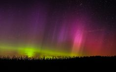 Aurora taken September 12, 2014 near Swanton, Vermont, USA.