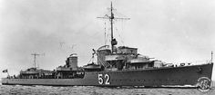 German destroyer Z19 Type 1936-class Hermann Künne built for the Kriegsmarine in the late 1930's. (google.image) 8.17 #50A