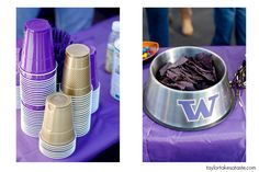 Husky Tailgating. Love the Dawg bowls.