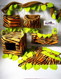 My cage accessories are made of high quality fleece inner and/or outer. Each item is handmade by myself with love and care to ensure your pets