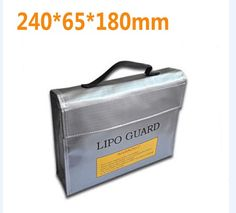 F16390/2 High Quality Fireproof Explosionproof RC LiPo Battery Safety Bag Safe Guard Charge Sack 240 * 180 * 65 mm L M S size