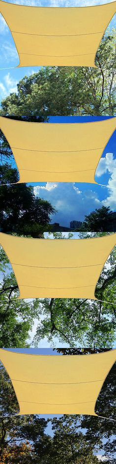 Other Tents and Canopies 179019: Patio Cover Square Sun Shade Sail Canopy Beige Sand Breathable Mesh 13' Ft X 13' -> BUY IT NOW ONLY: $45.19 on eBay!