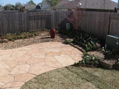 hardscape meets grass and plantings