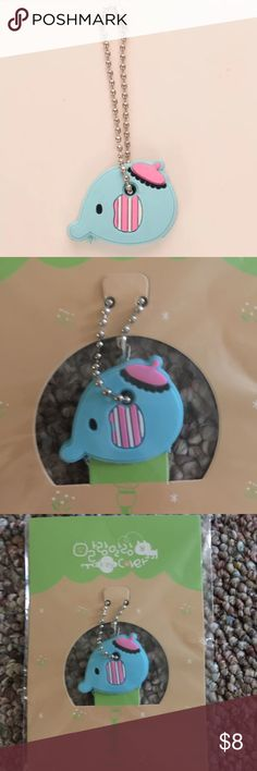 Adorable blue elephant key cover/cap/keychain New with tags. I only have 1 available and will not be restocking. Limited edition Accessories Key & Card Holders