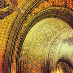 Ceiling detail. Fisher building, Detroit.  [stylist erin e. wilde]