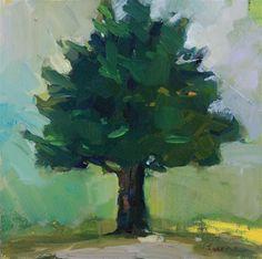 """""""Single Cedar"""" - Original Fine Art for Sale - © Maryann  Lucas"""