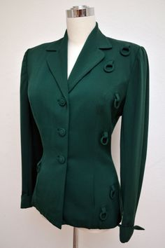 Vintage 40s 1940s LILLI ANN Jacket Forest by VintageDevotion, $198.00