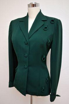 Vintage 40s 1940s LILLI ANN Jacket Forest by VintageDevotion, $198.00