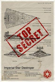 Star Wars: Imperial Star Destroyer (Blueprint)   By: Vespertin, via Flickr (#starwars #stardestroyer)