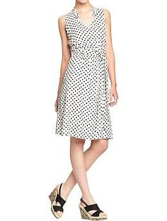 Women's Ruffle-Trim Tie-Belt Dress (White). Old Navy. $29.94
