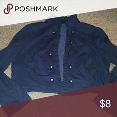 New Direction navy blue jacket New Direction navy blue jacket the size is not in it but I think it is an extra large it is used and it does show some signs of wear but in good condition new directions Jackets & Coats Blazers