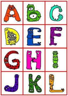 Alfabeto de monstruitos para imprimir y recortar : Para Niños Con ...