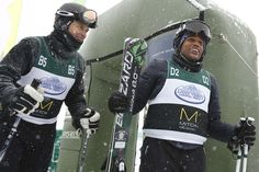 """Actor Tim Daly of """"Private Practice"""" and Hill Harper of """"CSI NY"""" after a run at the Deer Valley Celebrity Skifest. (Leah Hogsten  
