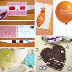 Convites criativos - Para os ainda mais criativos: Convites em 3D (só dá pra ler com o óculos!); quebra-cabeças, balões e velas!