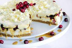 White chocolate-cranberry cake