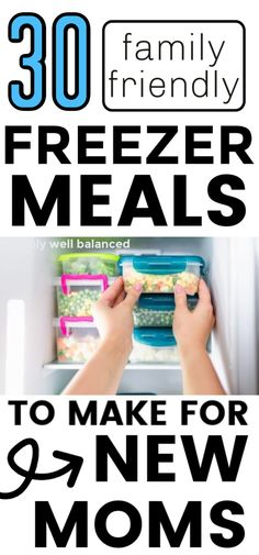 Make life as a new mom easier by stocking your freezer full of these family friendly freezer meals. These make a great gift or DIY before baby comes. Easy freezer meals for new moms and busy moms. Breakfasts, dinner and snacks. #freezermeals #newmom #recipes Happy Mom, Happy Kids, Make Ahead Freezer Meals, Quick Meals, Bolognese Pasta Bake, Shrimp Stir Fry Easy, Freezer Smoothies, Smoothie Packs, Money Saving Mom