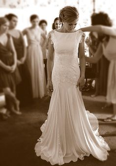 2013 Wedding Trends: Wedding Dresses with High Necklines
