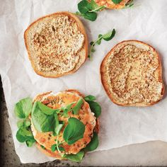 Dill and watercress give these burgers an herbal freshness and are a crunchy counterpoint to the tender salmon. Grainy mustard kicks in a briny tang.