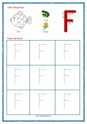 Tracing Letters - Letter Tracing Worksheets - Capital F - Free Preschool Printables Capital Letters Worksheet, Free Printable Alphabet Worksheets, Alphabet Writing Worksheets, Alphabet Writing Practice, Handwriting Practice Worksheets, Alphabet Tracing, Preschool Printables, Free Printables, Preschool Alphabet