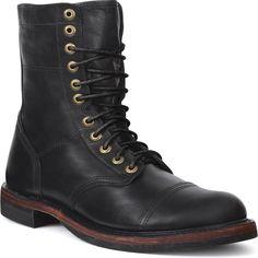 Men's Footwear: Durango City Black Western Lacer Boots - Style #DB0120 - Durango Boot Company