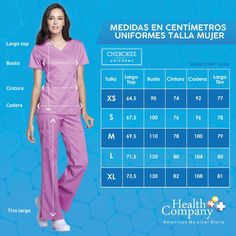 TOP UNIFORME MÉDICO MUJER UNICOLOR CHEROKEE CK603 CARV | Health Company Scrubs Uniform, Cherokee, Sewing Shirts, Medical Uniforms, Womens Scrubs, Medical Scrubs, Creation Couture, Easy Sewing Patterns, Measurement Chart