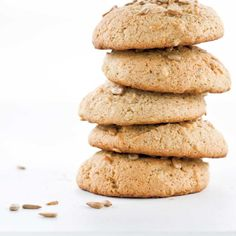 Banana and Sunflower Seed Cookies Recipes Delicious Cookie Recipes, Yummy Cookies, Baby Food Recipes, New Recipes, Baking Recipes, Recipies, Cinnamon Stars Recipe, Sunflower Seed Recipes, Seed Cookies